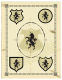Heraldisches Pferden-Einhorn lizenzfreie abbildung