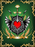Heraldisches Schild Lizenzfreies Stockfoto