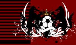 Heraldisches Schild Fußballwolfkammwappen Hintergrund Stockfotos