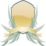 Heraldisches Schild mit Blumenelements.jpg Stockfotos