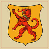 Heraldisches Tier auf Schild Lizenzfreies Stockbild
