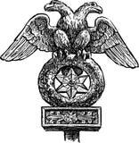 Heraldisk örn Royaltyfri Bild