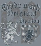 heraldisk design Arkivfoto