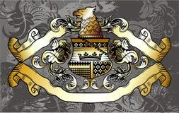 Heraldisk etikett Arkivbild