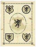 heraldisk grip arkivbild