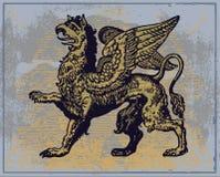 heraldisk grip royaltyfri illustrationer