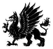 heraldisk grip stock illustrationer