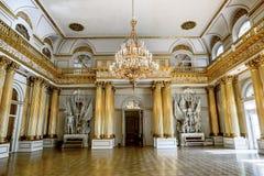 Heraldisk korridor i eremitboningmuseet i St Petersburg Ryssland Fotografering för Bildbyråer