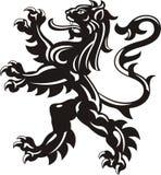 Heraldisk lejontatuering Arkivbilder
