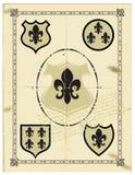 heraldisk lilja arkivfoton