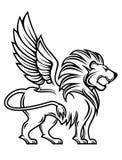 heraldisk lion Arkivbild