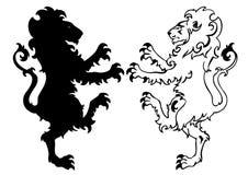 heraldisk lionvektor Arkivfoto
