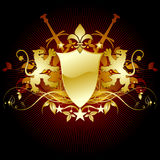 heraldisk medeltida sköld Royaltyfria Bilder