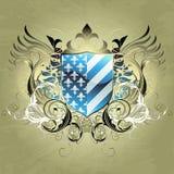 heraldisk medeltida sköld Fotografering för Bildbyråer