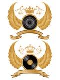 heraldisk musikmodell Arkivfoton