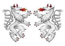 heraldisk pantervektor Royaltyfri Foto