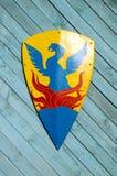 Heraldisk riddaresköld Arkivbild