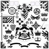 heraldisk set royaltyfri illustrationer