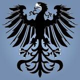 heraldisk silhouette för örn Arkivbilder