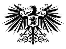 heraldisk silhouette för örn Royaltyfri Foto
