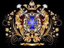 heraldisk sköld Arkivfoto