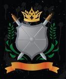heraldisk sköld vektor illustrationer