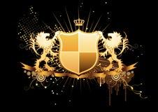 heraldisk sköld Royaltyfri Bild