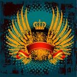 heraldisk sköld för emblem Arkivfoton