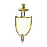 heraldisk sköld för komisk tecknad film Fotografering för Bildbyråer