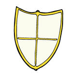 heraldisk sköld för komisk tecknad film Arkivbilder