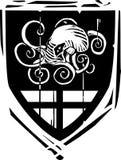 Heraldisk sköld Kraken Royaltyfri Fotografi