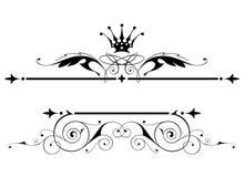 heraldisk tappning för emblem Royaltyfri Foto
