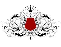 heraldisk tappning för emblem Royaltyfri Bild