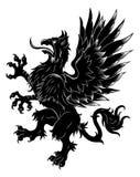 Heraldisk våldsam grip stock illustrationer