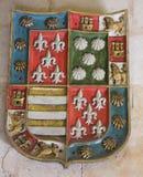 Heraldisk vapensköld i domkyrkan av Salamanca Arkivbilder