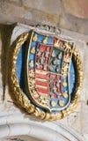 Heraldisk vapensköld i domkyrkan av Salamanca Arkivbild