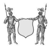 heraldisk vektor Arkivbilder