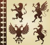 heraldiska djur Arkivfoto