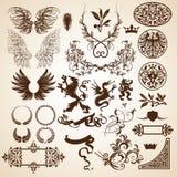 heraldiska element vektor illustrationer