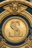 Heraldiska motiv på ytterdörr till Les Invalides paris Royaltyfri Foto