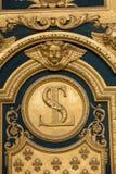 Heraldiska motiv på ytterdörr till Les Invalides Paris, Arkivfoton