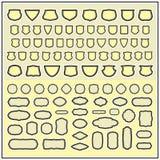 Heraldiska och dekorativa ramar Arkivfoto