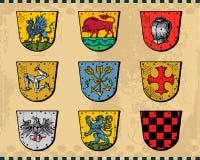 heraldiska sköldar Royaltyfria Foton