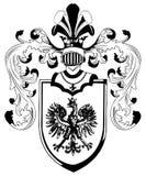 heraldiska utsmyckade sköldar Royaltyfria Foton