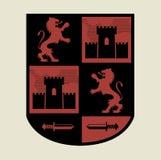 Heraldiskt emblem vektor illustrationer