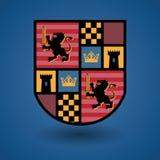 Heraldiskt emblem stock illustrationer