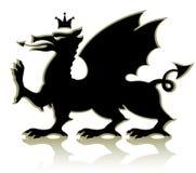 heraldiskt medeltida för drake Royaltyfri Bild