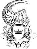 Heraldiskt pegasus vapensköldvapen shield4 Royaltyfri Foto