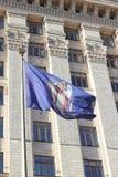Heraldiskt symbol av huvudstaden av Kiev i Ukraina Royaltyfria Foton
