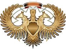 heraldiskt tecken stock illustrationer